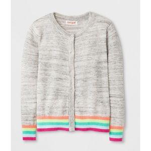 Cat & Jack Rainbow Easter Cardigan Sweater
